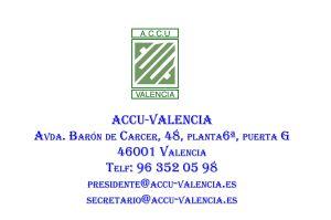 Dirección Accu-Valencia
